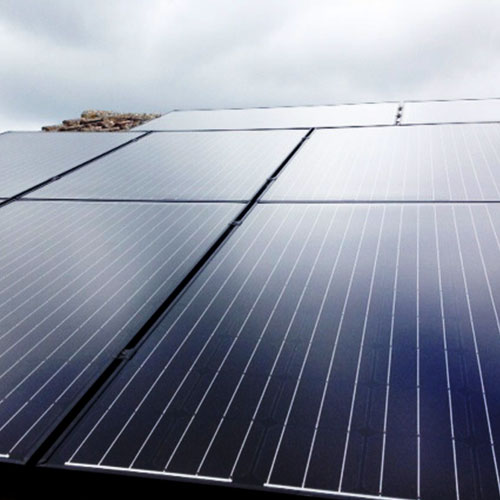 SunEdison solar panels on Roof