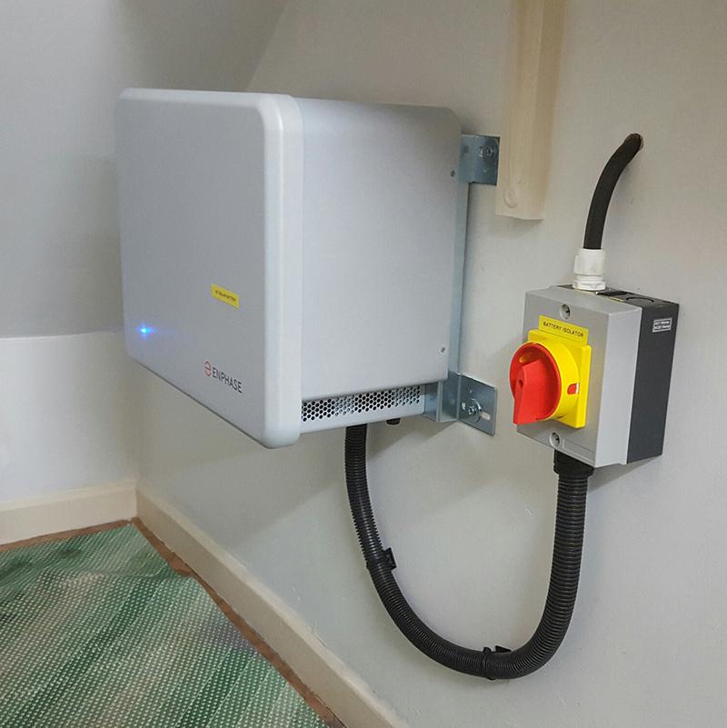 Solar Panel Amp Battery Installation Photo Gallery