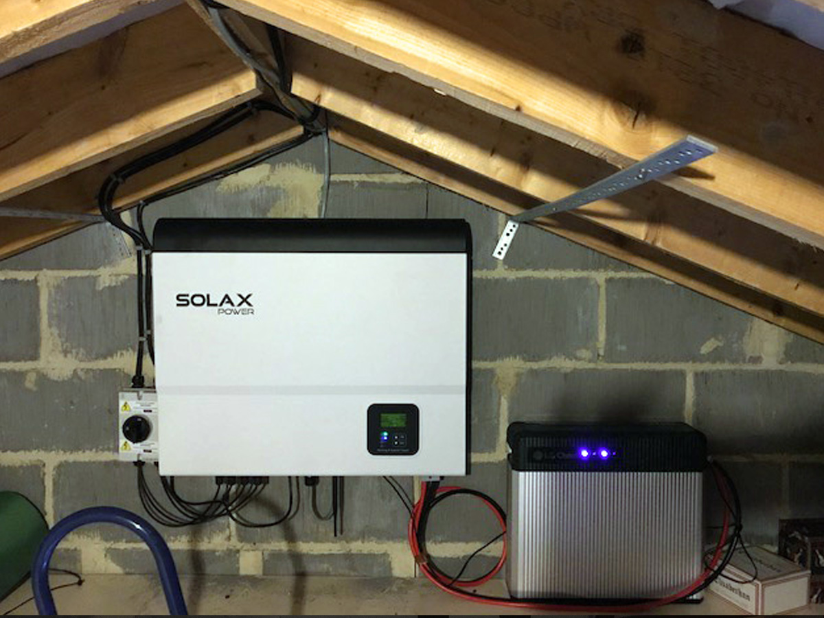 Solar Panel Amp Battery Installation Photo Gallery