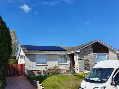 Solar PV on a bugalow