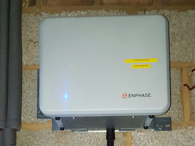 Enphase AC solar battery installed