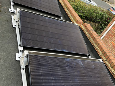 Solar PV on flat roof