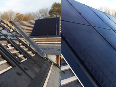 Solar GSE in roof installation