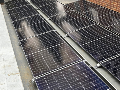 Longi Solar panels on flat roof