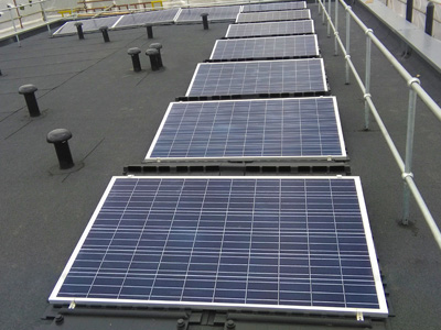 Flat Roof Panel Installation