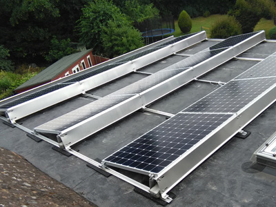 Flat Roof Panel Rail System