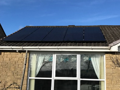 Solar PV installation on roof