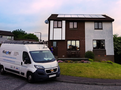 Domestic solar install with van
