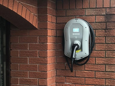 Installed Zappi EV charger on wall