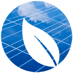 Solar Power Leaf Logo