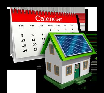 Solar Power Calculator breakdown by month