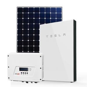 Sunpower solar panel with Tesla battery