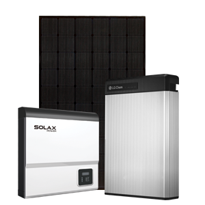 LG Solar Panels with Chem Battery and Solax Inverter