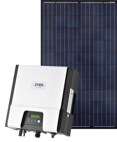 Sapphire panels with Eversolar inverter