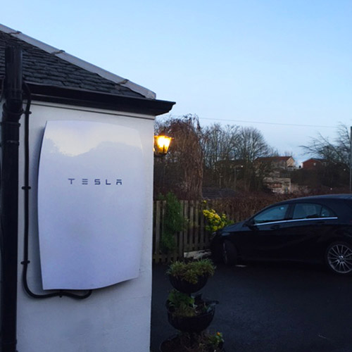 Tesla Powerwall 2 installed on house